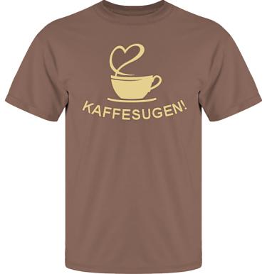 T-shirt UltraCotton Nougat/Sandfärgat tryck i kategori Blandat: Kaffesugen