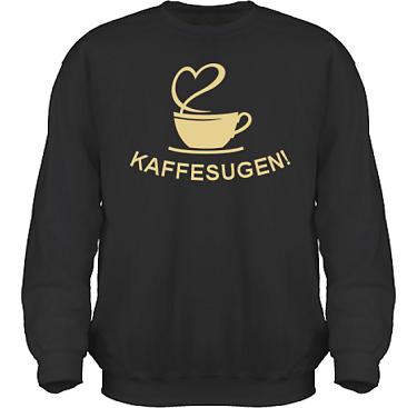 Sweatshirt HeavyBlend Svart/Sandfärgat tryck i kategori Blandat: Kaffesugen