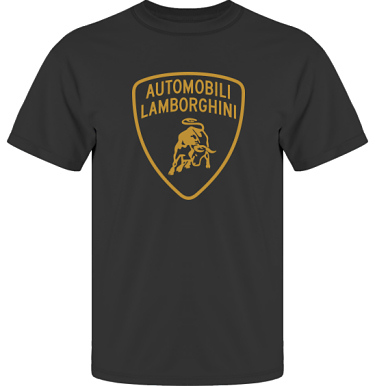 T-shirt UltraCotton Svart/Guldtryck i kategori Motor: Lamborghini