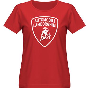 T-shirt SouthWest Dam Röd/Vitt tryck i kategori Motor: Lamborghini