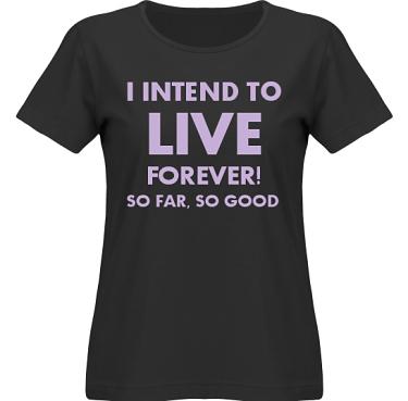 T-shirt SouthWest Dam Svart/Lila tryck i kategori Attityd: Live Forever