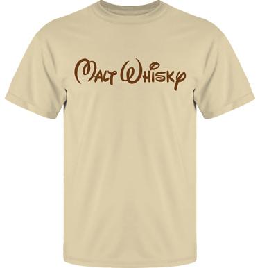 T-shirt UltraCotton Sand/Brunt tryck i kategori Alkohol: Malt Whisky