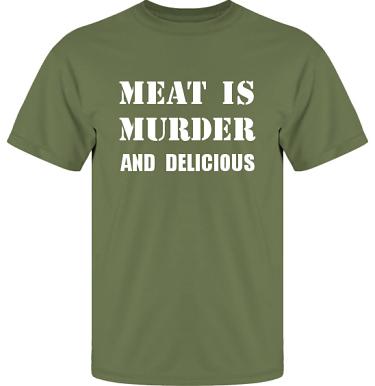 T-shirt UltraCotton Militärgrön/Vitt tryck i kategori Blandat: Meat is Murder
