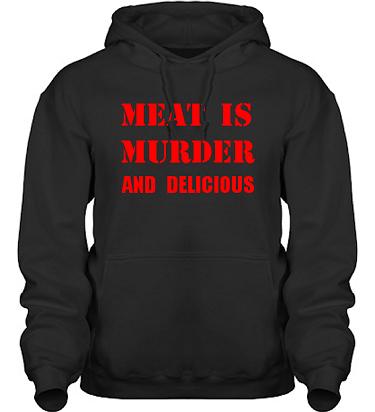 Hood HeavyBlend Svart/Rött tryck i kategori Blandat: Meat is Murder