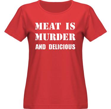 T-shirt SouthWest Dam Röd/Vitt tryck i kategori Blandat: Meat is Murder