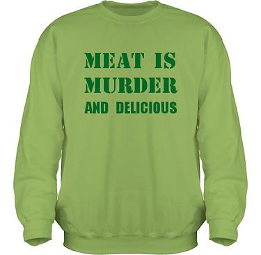 Sweatshirt HeavyBlend Kiwi/Grönt tryck i kategori Blandat: Meat is Murder