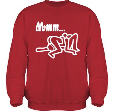 Sweatshirt HeavyBlend Röd/Vitt tryck i kategori Sexxx: Mmmm