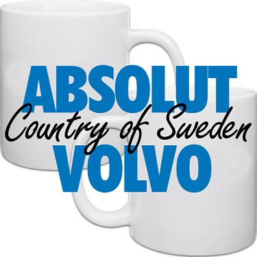 Vit keramikmugg Absolut Volvo 2-pack i kategori Muggar: Mugg Absolut Volvo 2-pack
