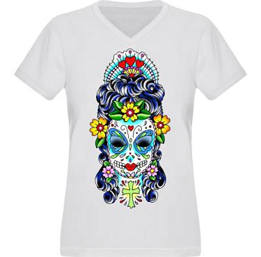 T-shirt XP522 Dam  i kategori Tattoo: Mexican Style