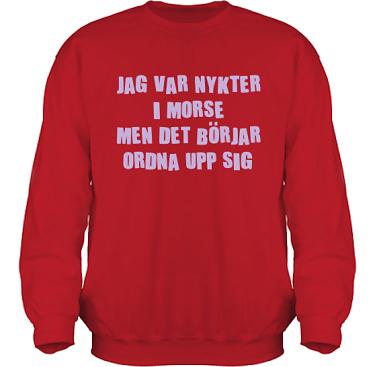 Sweatshirt HeavyBlend Röd/Lila tryck  i kategori Alkohol: Nykter i morse