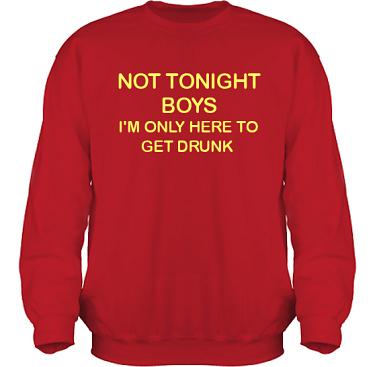 Sweatshirt HeavyBlend Röd/Gult tryck i kategori Alkohol: Not tonight boys