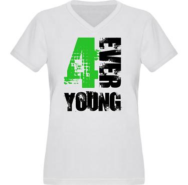 T-shirt XP522 Dam i kategori Kloka ord: 4ever Young