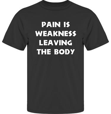 T-shirt UltraCotton Svart/Vitt tryck i kategori Attityd: Pain is weakness