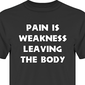 T-shirt, Hoodie i kategori Attityd: Pain is weakness