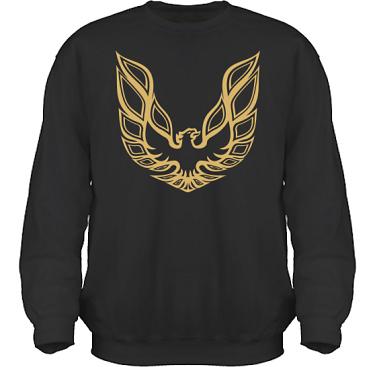 Sweatshirt HeavyBlend Svart/Guldtryck i kategori Motor: Pontiac Trans Am