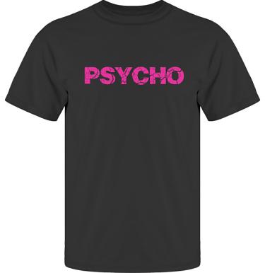 T-shirt UltraCotton Svart/Cerise tryck i kategori Attityd: Psycho