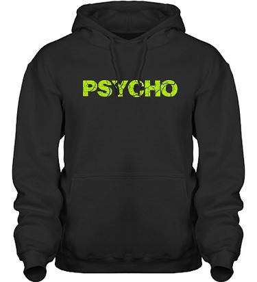 Hood HeavyBlend Svart/Äppelgrönt tryck i kategori Attityd: Psycho
