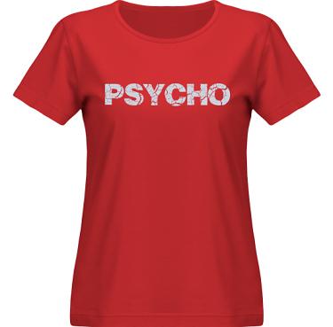 T-shirt SouthWest Dam Röd/Grått tryck i kategori Attityd: Psycho