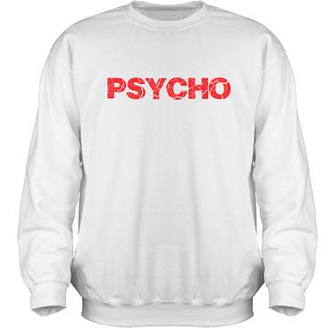 Sweatshirt HeavyBlend Vit/Rött tryck  i kategori Attityd: Psycho