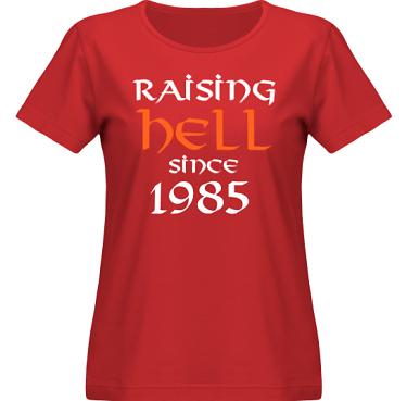 T-shirt SouthWest Dam Röd i kategori Attityd: Raising Hell