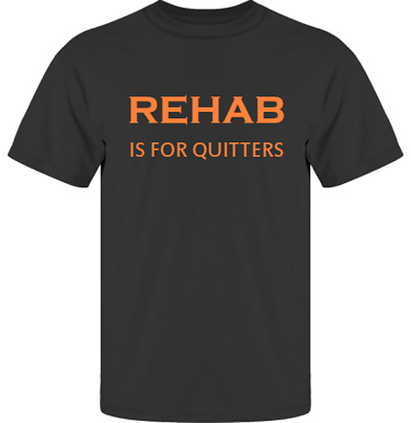 T-shirt UltraCotton Svart/Orange tryck i kategori Attityd: Rehab