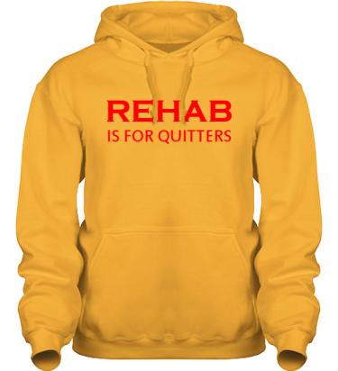 Hood HeavyBlend Gul/Rött tryck i kategori Attityd: Rehab
