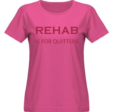 T-shirt SouthWest Dam Cerise/Vinrött tryck i kategori Attityd: Rehab