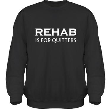 Sweatshirt HeavyBlend Svart/Vitt tryck i kategori Attityd: Rehab