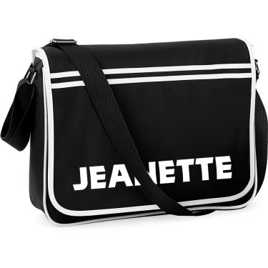Axelväska Retro Messenger Bag Svart i kategori Eget namn text  Axelväska  Svart 236361aa9941b