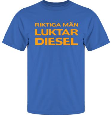 T-shirt UltraCotton Royalblå/Orange tryck  i kategori Attityd: Diesel
