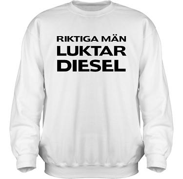 Sweatshirt HeavyBlend Vit/Svart tryck  i kategori Attityd: Diesel