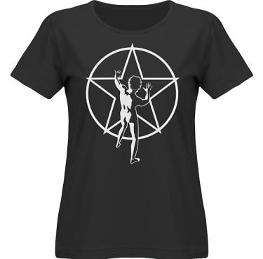 T-shirt SouthWest Dam Svart/Vitt tryck i kategori Musik-Hårdrock: Rush Starman