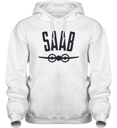 Hood HeavyBlend Vit/Svart tryck i kategori Motor: Saab