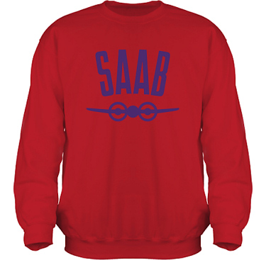 Sweatshirt HeavyBlend Röd/Violett tryck i kategori Motor: Saab