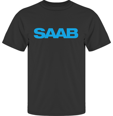 T-shirt UltraCotton Svart/Blått tryck i kategori Motor: Saab