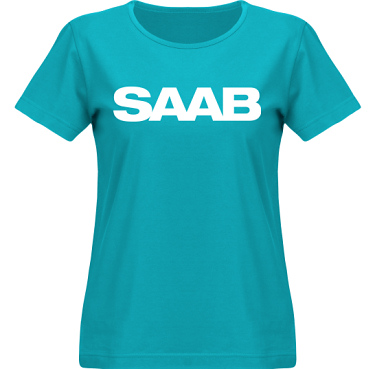 T-shirt SouthWest Dam Aqua/Vitt tryck i kategori Motor: Saab