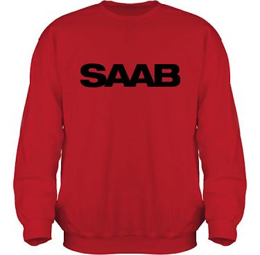 Sweatshirt HeavyBlend Röd/Svart tryck i kategori Motor: Saab