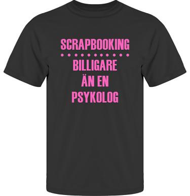 T-shirt UltraCotton Svart/Cerise tryck i kategori Scrapbooking: Billigare än en psykolog