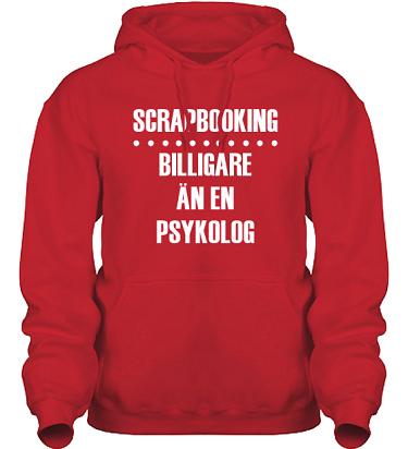 Hood HeavyBlend Röd/Vitt tryck i kategori Scrapbooking: Billigare än en psykolog