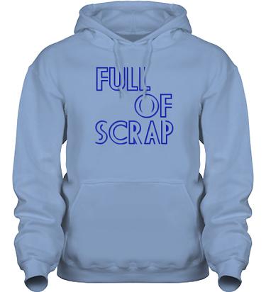 Hood HeavyBlend Himmelsblå/Royalblått tryck i kategori Scrapbooking: Full of scrap