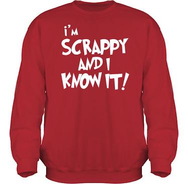 Sweatshirt HeavyBlend Röd/Vitt tryck i kategori Scrapbooking: Im scrappy