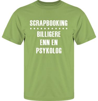 T-shirt UltraCotton Kiwi/Vitt tryck i kategori Scrapbooking: Billigere enn en psykolog