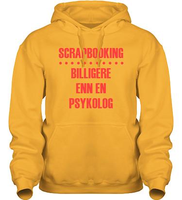 Hood HeavyBlend Gul/Rött tryck  i kategori Scrapbooking: Billigere enn en psykolog