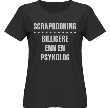 T-shirt SouthWest Dam Svart/Grått tryck i kategori Scrapbooking: Billigere enn en psykolog