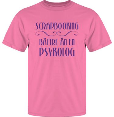 T-shirt UltraCotton Azalea/Violett tryck  i kategori Scrapbooking: Bättre än en psykolog