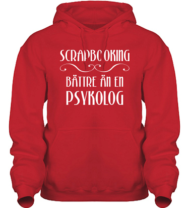 Hood HeavyBlend Röd/Vitt tryck  i kategori Scrapbooking: Bättre än en psykolog