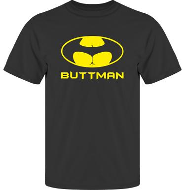 T-shirt UltraCotton Svart/Gult tryck  i kategori Sexxx: Buttman