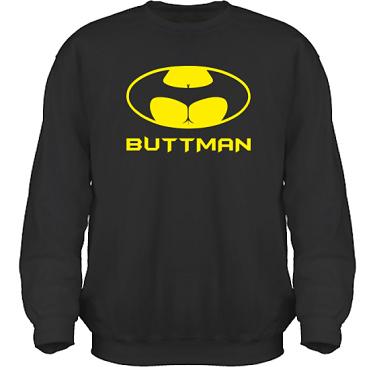 Sweatshirt HeavyBlend Svart/Gult tryck i kategori Sexxx: Buttman