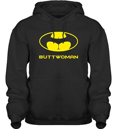Hood HeavyBlend Svart/Gult tryck i kategori Sexxx: Buttwoman