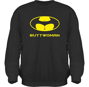 Sweatshirt HeavyBlend Svart/Gult tryck i kategori Sexxx: Buttwoman